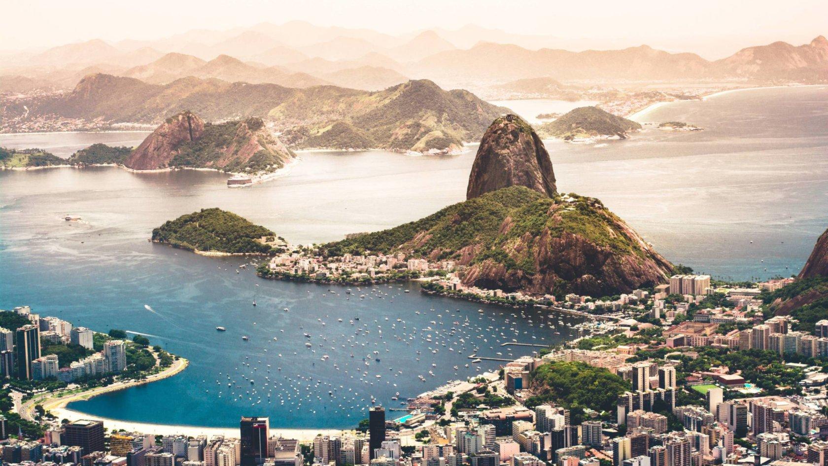 Coastline of Rio de Janeiro, Brazil