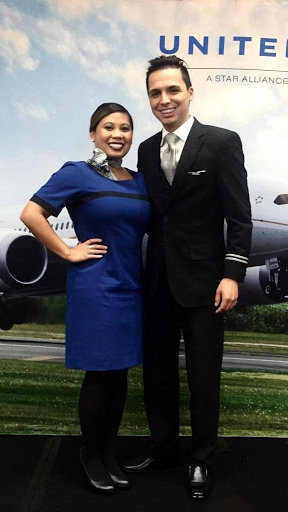 Flight Crew Member Dianne and her Graduation with her friend who gave her a referral