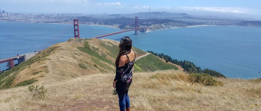 A picture commemorating her move to San Francisco in April.