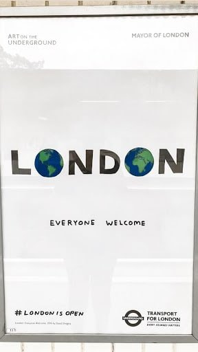 A poster in London's tube promoting equal treatment