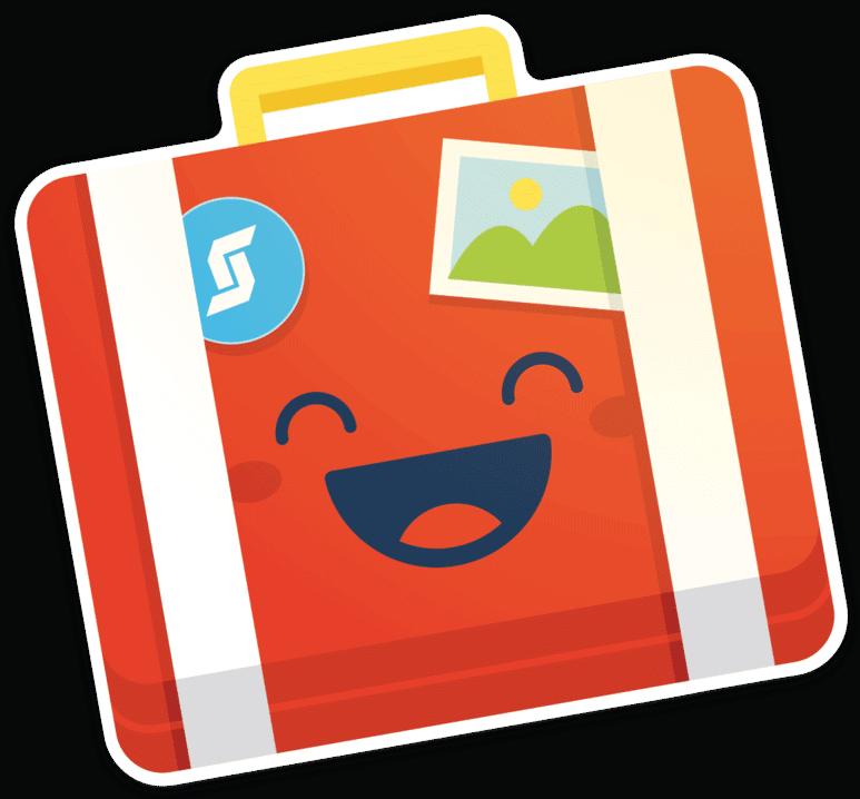 Happy Suitcase cutout sticker