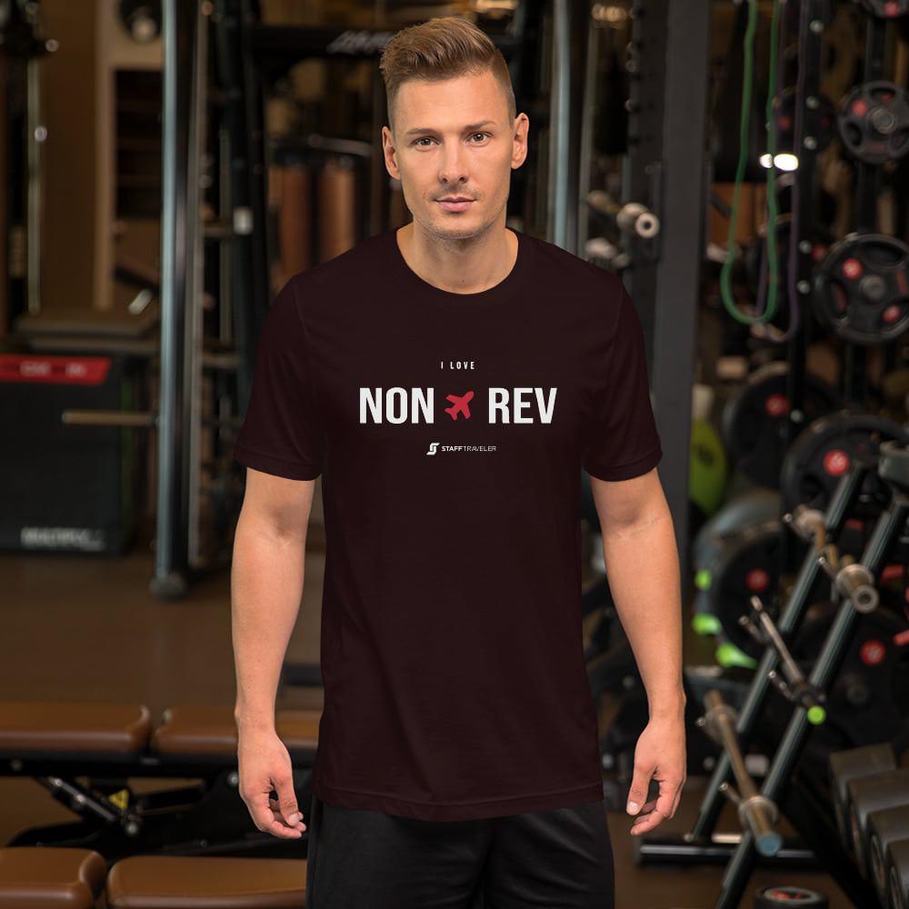 I love non-rev T-shirt oxblood black