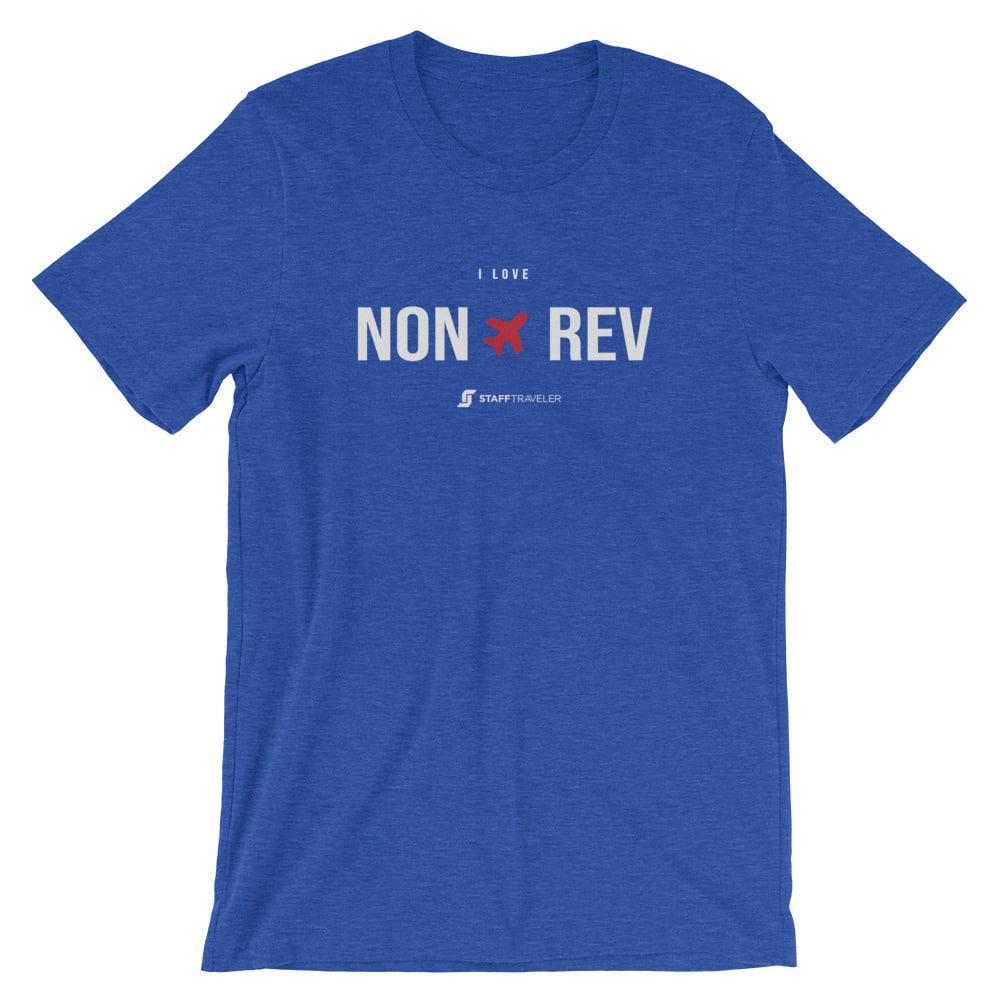 I love non-rev T-shirt light blue