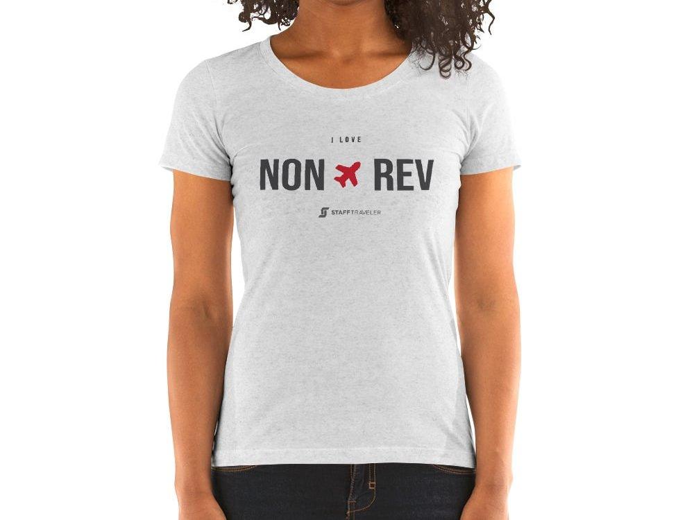 I love non-rev slim-fit T-shirt woman white
