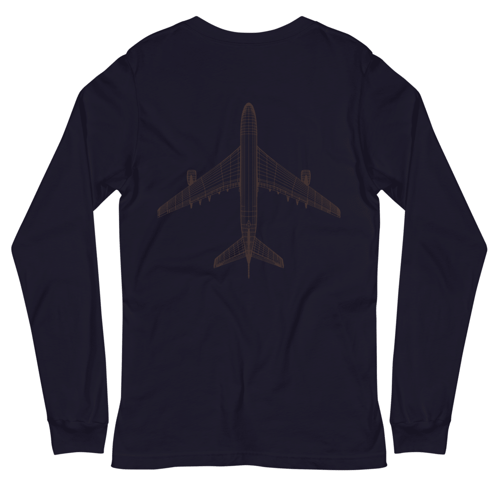 Plane long sleeve navy blue