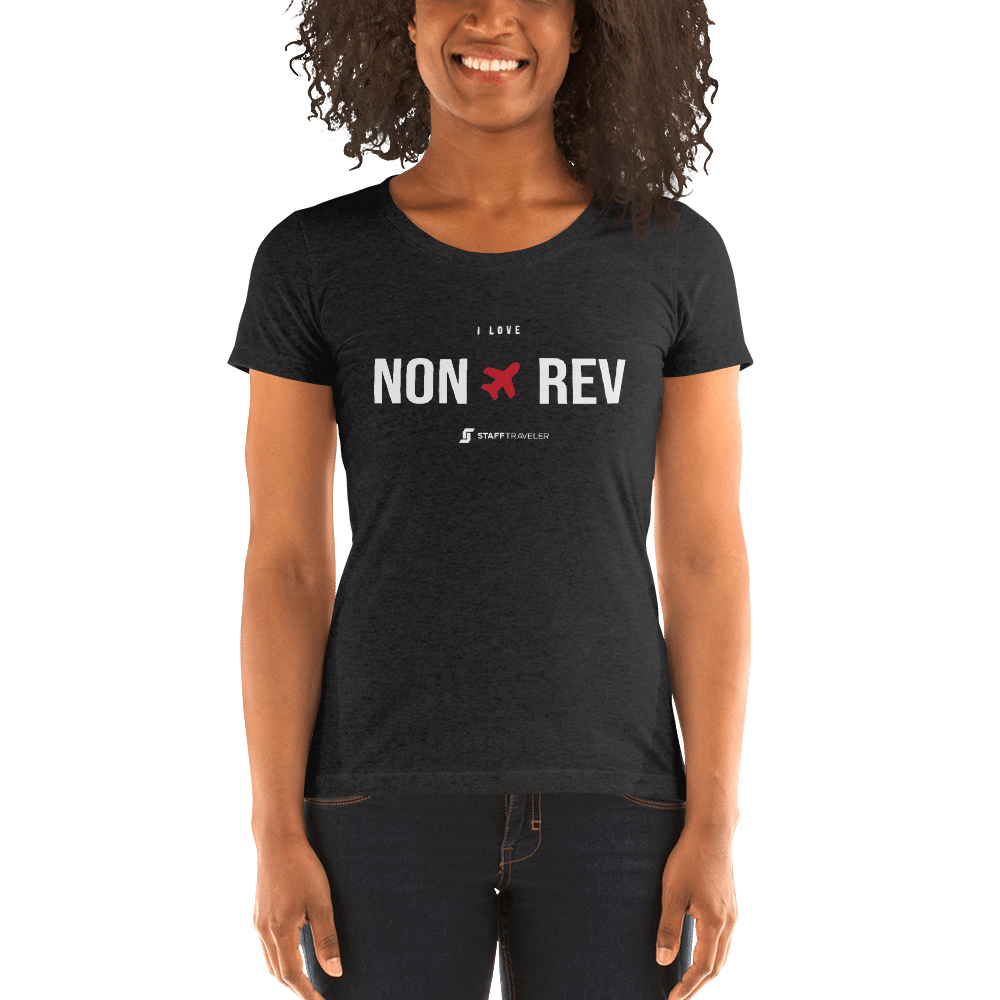 I love non-rev slim-fit T-shirt woman grey