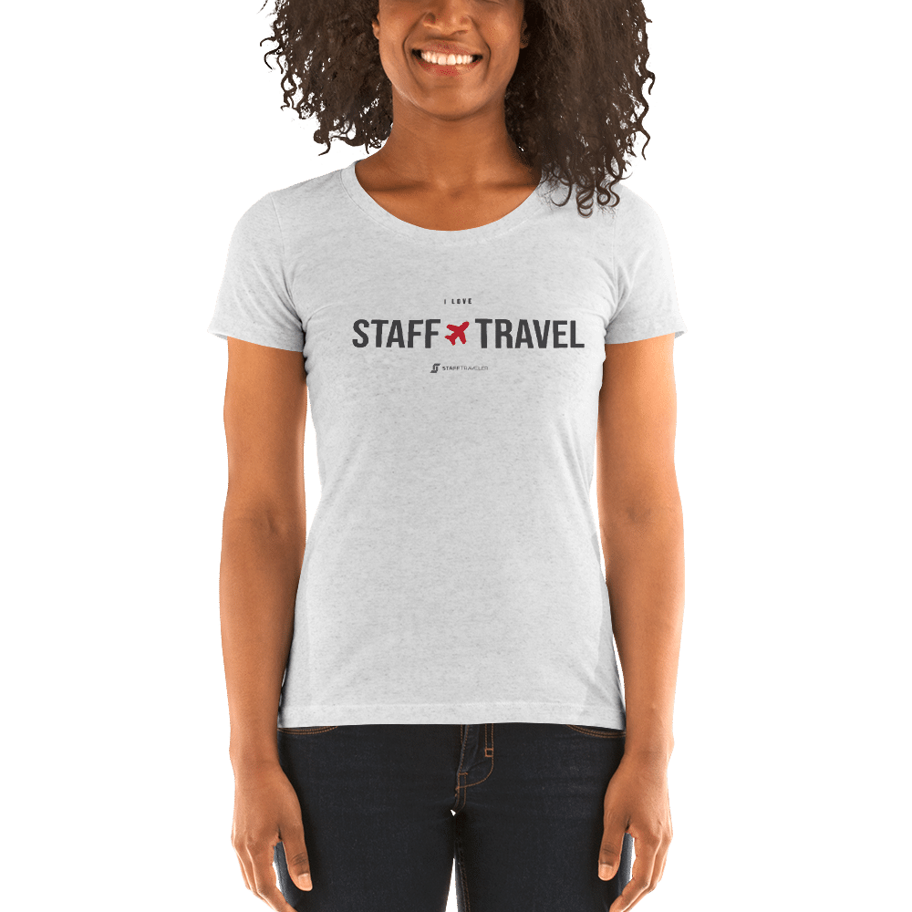 I love staff travel T-shirt white
