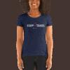 I love staff travel women T-shirt Navy blue