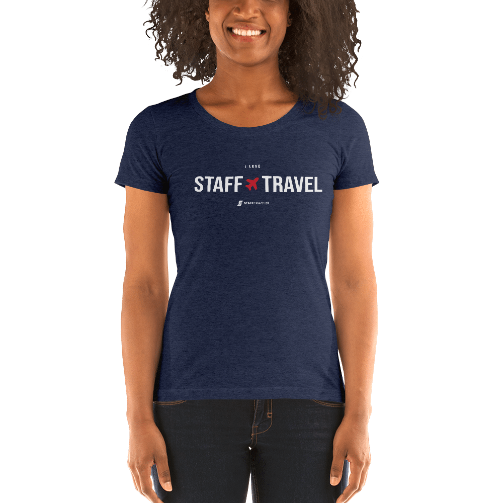 I love staff travel women T-shirt Navy blue