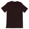Plane T-shirt Oxblood Black