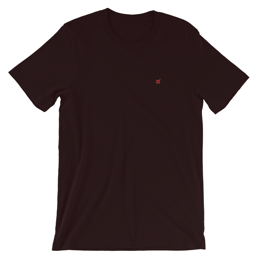 Plane T-shirt Oxblood Black