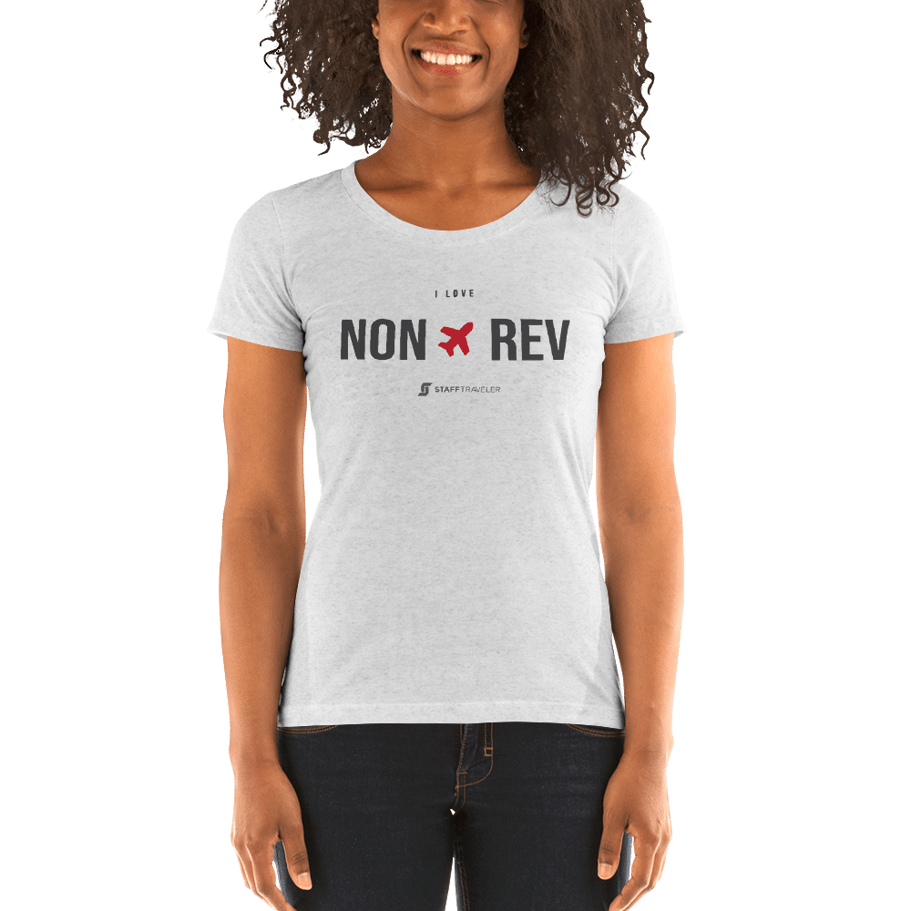 I love non-rev slim-fit T-shirt woman white