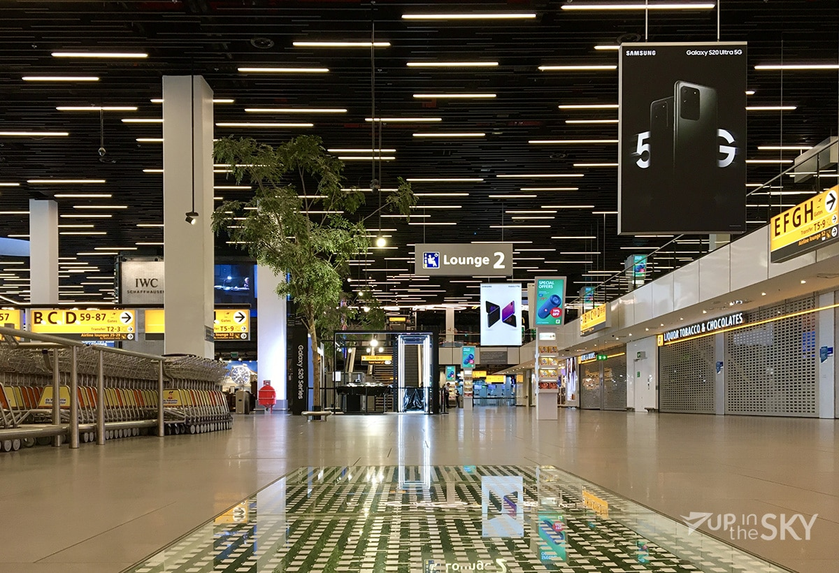 Amsterdam Schiphol Airport empty during COVID-19 Crisis